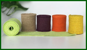 Colorful Woven Jute Fabric Roll