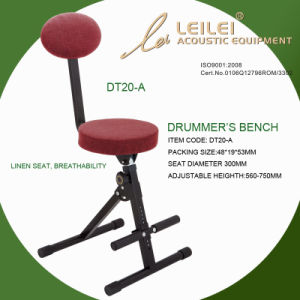 Adjustable Linen Seat Drummer′s Bench (DT20-A) pictures & photos
