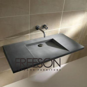Concrete Washbasin in Gradient Design Sink Contemporary Bathroom