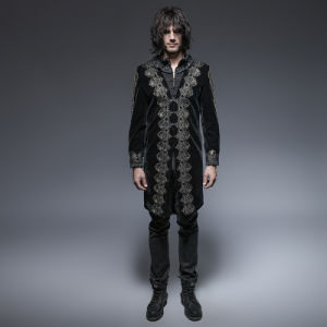 Y-641 Gothic Spring Aesthetic Embossed Retro Man Long Coat