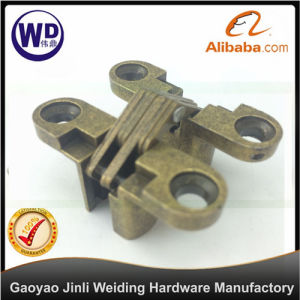 Door Concealed Invisible Cross Hinge Xh-005 Zinc Alloy Green Bronze