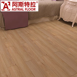 China Yellow Light Color Bedroom Used 12mm Laminated Wooden Floor