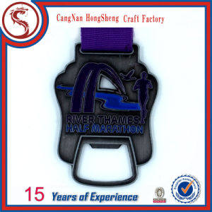 Customized Design Metal Medal Shape with Bottle Opener pictures & photos