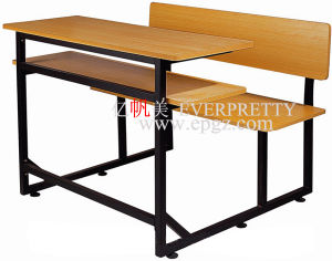 Sf-22D-Double Desk and Chair Attached, School Desk Chair Attached for University pictures & photos