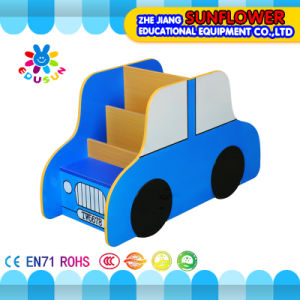 Book Rack, Wooden Toy Cupboard, Car Modeling Toys Rack (XYH12141-4)