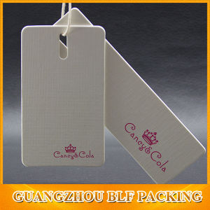 Custom Two Pieces Clothes Paper Logo Label Tags (BLF-T109) pictures & photos