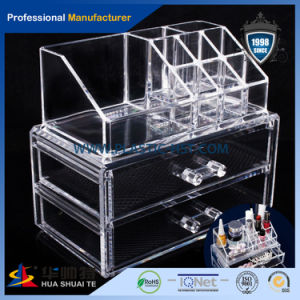 High Clear Customized Acrylic Spinning Lipstick Holder Rotatable Makeup Organizer pictures & photos