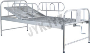 Stainless Steel One Function Hospital Bed pictures & photos