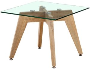 2016 Modern Ash Solid Wood Glass Side Table