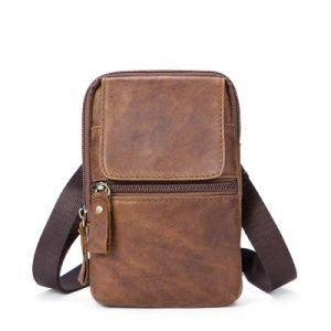 Vintage Leather Men Satchel Bag Mini Shoulder For
