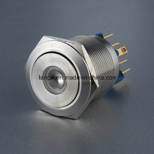 22mm 1no1nc Latching DOT LED Push Button Switch pictures & photos