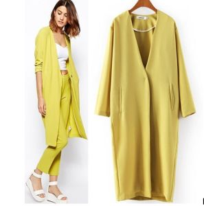 Custom High Quality Boutique Winter Loose Women Long Coat pictures & photos