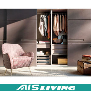 MDF Plywood Modular Closet Wardrobe Closet with Sliding Doors (AIS-W187)