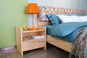 Modern Wooden Birch Veneered Nightstands with One Drawer (N1022)
