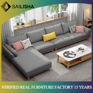 Designed Morden Fabric Sofa Couch Nordic Style Simple L Shape Home  Furniture Living Room Latex Sofa