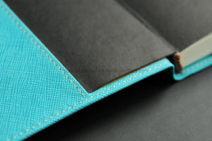 High Quality Moleskine Notebook with Thread Stitching & Card Holder pictures & photos
