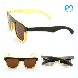 Customized Adult Polarized Bamboo Eyewear Wooden Frame Sunglasses