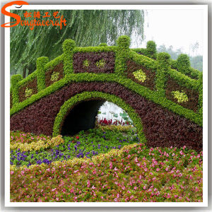 Customized Landscaping Artificial Fake Topiary Grass for Crafts pictures & photos