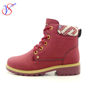 2016 New Style Injection Women Work Boots Shoes for Job (SVWK-1609-019 WINE)
