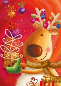 Deer Christmas Greeting Cards (CB6-010)