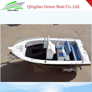 5.0m 17FT Center Cosole Yacht Fisherman Aluminum Leisure Boat