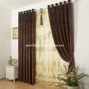Thermal Insulated Luxury Chenille Grommet Panel/Curtain (SZSMECP002)