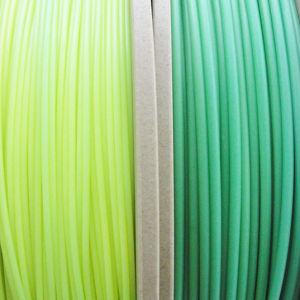 ABS 1.75mm Blue Green to Yellow Green 3D Filament