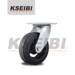 Kseib Heavy Duty Rubber Cast Iron Swivel Casters pictures & photos