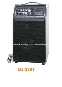 Remote Control Professional Active Speaker with USB/SD+Mic (DJ-2801)