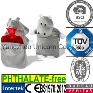 CE Hippo Animal Cover Plush Toy BS Hot Water Bottle