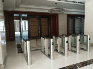 Mechanical Automatic Turnstile Gate with Qr Barcode Scanner pictures & photos