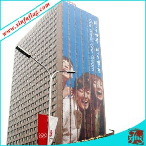 Mesh Fabric Banners on Building, Advertising Back Drops
