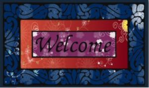Flocked Rubber Door Mat 8805-14 pictures & photos