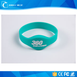 Swimming Pool Waterproof Silicone Rubber ID RFID Bracelet Wristband