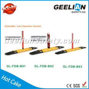 Panel Barrier Board Traffic Delineator, Divider Barrier Soft Body Road Delineator