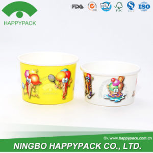 Paper Ice Cream Cup with Customized Logo (With Lid) pictures & photos