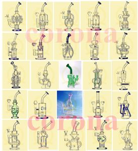 OEM/ODM Oil Rigs Recycler Color Pink Green Blue Bowls Glass Smoking Water Pipe pictures & photos