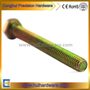 Color/Yellow Zinc Plated Hex Bolt with Full Threaded M6 M8 pictures & photos