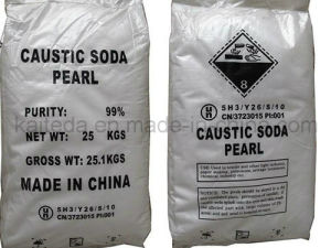 Industry Grade 99% Caustic Soda Flakes pictures & photos