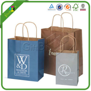 China Custom Design Printing Paper Packaging Gift Brown Kraft Paper