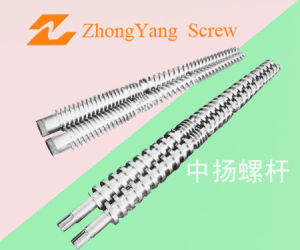 Conical Twin Screw for Plastic Extruder pictures & photos