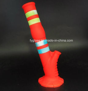 13.6′′ Height New Silicone Water Pipe with Silicone Down Stem and Glass Bowl pictures & photos