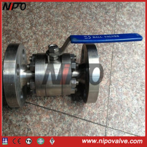 API6d 3-PCS Forged Steel Floating Ball Valve pictures & photos