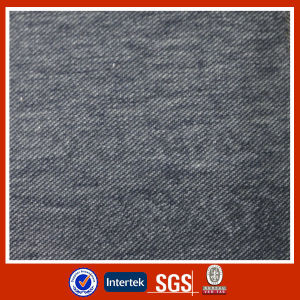 Polyester Indigo Dyed Knit Denim Fabric pictures & photos