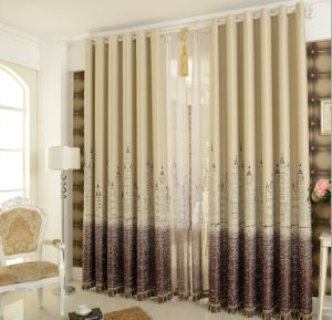 One Side Print Fabric Curtain Blackout Curtains (MM-177) pictures & photos