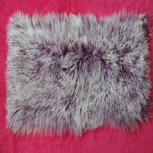 100% Mongolia Sheep Fur Plate on Sale Qy-Qp05