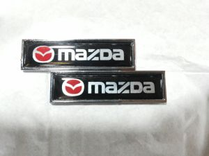 Car Emblem with Mazda Aluminum Sticker