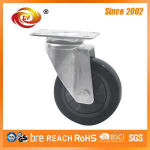 5 Inch Grey PU Swivel Medium Duty Caster 5817-77