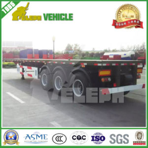 Cimc 3 Axles 40FT Container Flatbed Semi-Trailer