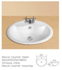 Above Counter Ceramic Cabinet Wash Sinks, Ceramic Cabinet Wash Basin pictures & photos